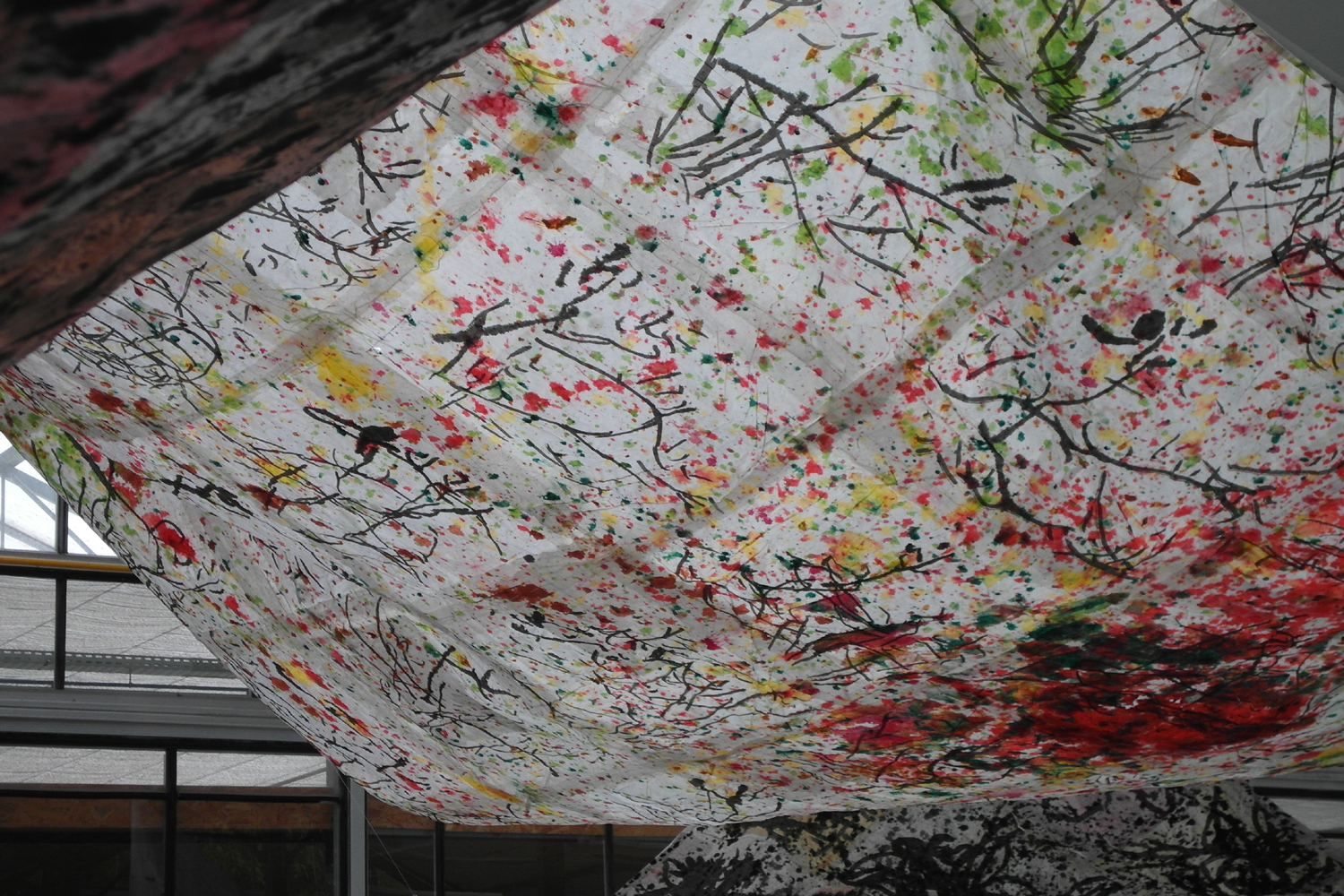 olive-kite of Noa, 340x 340 cm, mixed media on korean paper 2014.JPG